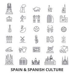 spain barcelona madrid spanish flamenco vector image