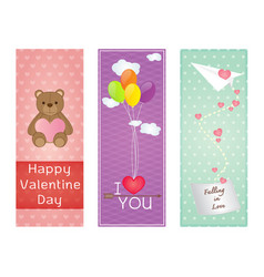 valentine greeting cards design vector image vector image