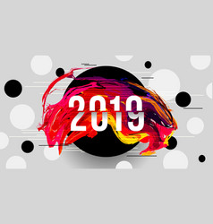 2019 glitched background design template vector