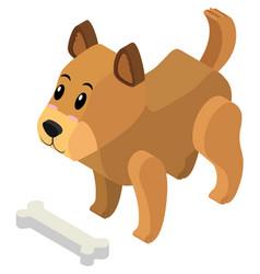 3d design for little puppy vector