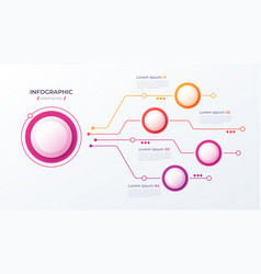 4 options infographic design structure vector image