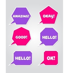 A collection of speech message bubbles vector image