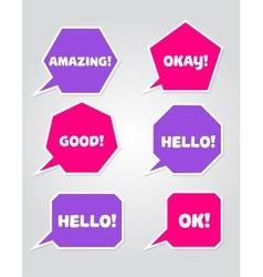 a collection speech message bubbles vector image