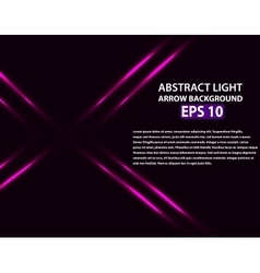 Abstract background with light arrow vector image