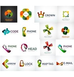Abstract company logo collection vector