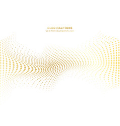 abstract wave curve distort gold dots pattern vector image