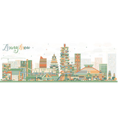 Abstract zhengzhou skyline with color buildings vector