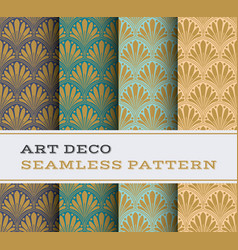 art deco seamless pattern 19 vector image