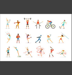 athletic people doing various kinds of sports vector image