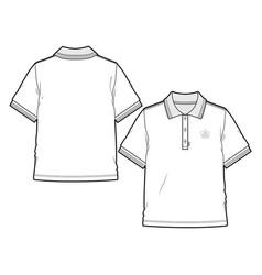 basic polo shirt vector image