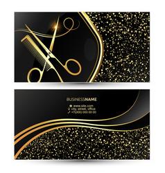 Beauty salon and hair stylist business card vector