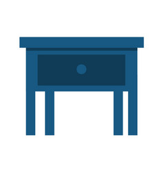 bedside table in wooden isolated icon vector image