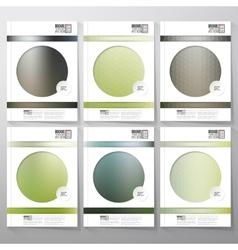 Blurred abstract hexagonal patterns Brochure vector image