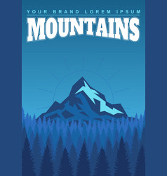 bright landscape mountains and forests vector image