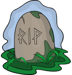 Cartoon art with grave in the swamp vector