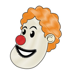 character clown circus juggler cheerful image vector image