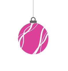 Christmas ball pink vector
