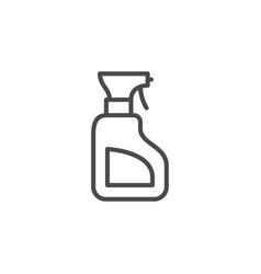 Cleaner bottle line outline icon vector