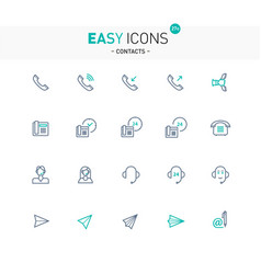 easy icons 27e contacts vector image