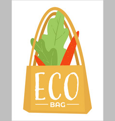 eco bag made fabric cloth ecologically vector image