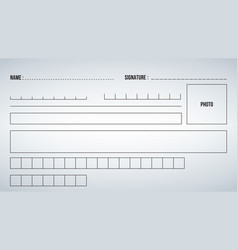elements or template form for filling out vector image