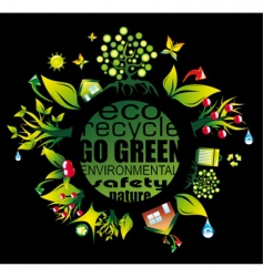 environment and eco frame vector image