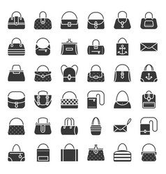 fashion bag solid icon in various style vector image