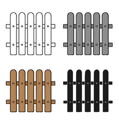 Fence icon in cartoon style isolated on white vector