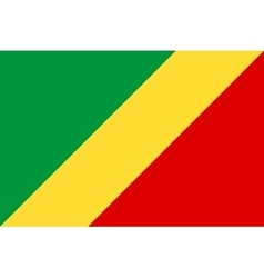 Flag of Republic of the Congo correct size colors vector image