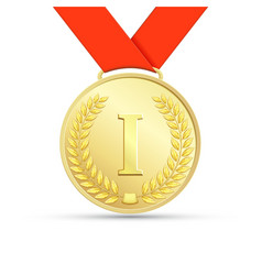 Gold medal Stock vector image