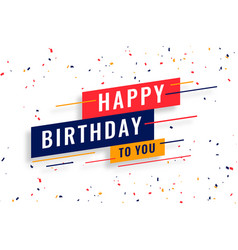 Happy birthday wishes celebration card design vector