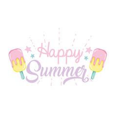 Happy summer punchy pastels vector