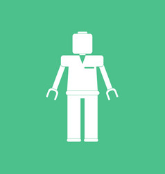Icon on background kids toy robot vector