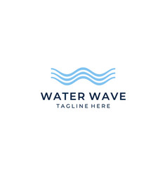 initial letter w with ocean water wave logo design vector image