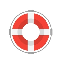 Life Buoy with Rope vector