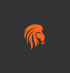 lion logo design icon symbol logotype side vector image