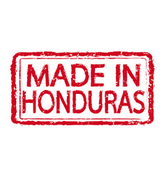 made in honduras stamp text vector image