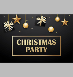 Merry christmas and party on dark background with vector