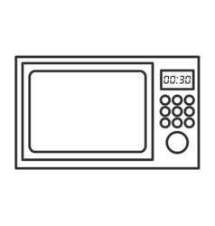 microwave oven isolated icon design vector image