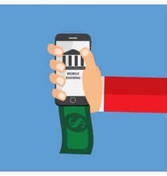 Mobile Banking Payment Flat Concept vector image