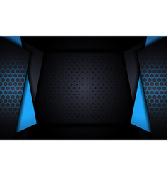 Modern tech blue background with abstract style vector
