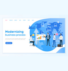 modernizing business process people on network vector image