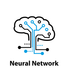 neural network concept connected cells with links vector image
