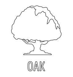 oak icon outline style vector image
