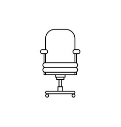office chair line flat black and white de vector image