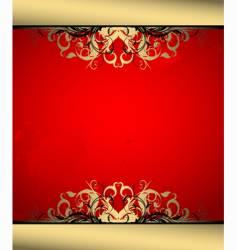 ornate banner vector image
