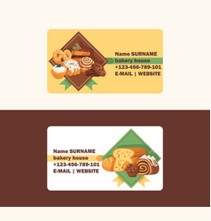 pastry business card baked cake cream cupcake and vector image