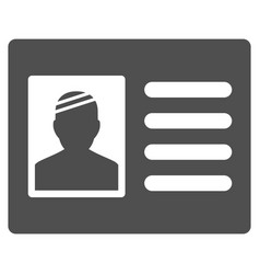 Patient card flat icon vector