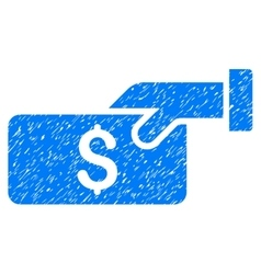 Pay grainy texture icon vector
