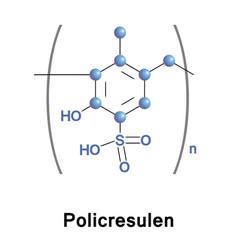 policresulen haemostatic antiseptic vector image